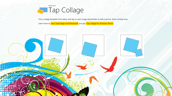 Tap Collage Windows 8 Screenshot