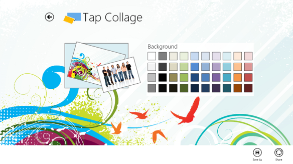 Tap Collage Windows 8 App Screenshot